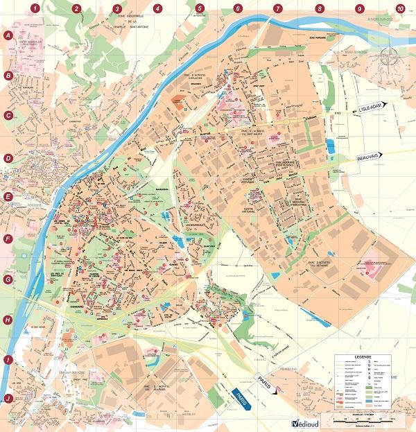 Plan de la ville saint ouen l 39 aum ne - Opievoy st ouen l aumone ...